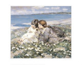Seashore Roses Prints by Edward Atkinson Hornel
