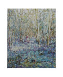 Painting Bluebells Prints by Paula Nightingale
