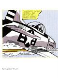 Whaam ! panneau 1 sur 2 du diptyque Affiches par Roy Lichtenstein
