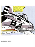 Whaam! (panel 1 of 2) Poster by Roy Lichtenstein