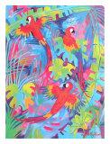 Tropical Plumage Kunstdrucke von Linda Fay Powell
