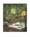Picnic in the Woods Affischer av Henri Le Sidaner