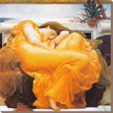 Flaming June, c.1895 Stretched Canvas Print by Frederick Leighton