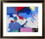 Abstract, Red, Blue Gerahmter Giclée-Druck von Patricia Brown
