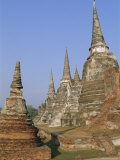 Wat Phra Si Samphet, Ayuthaya, Thailand, Asia Photographic Print by Bruno Morandi