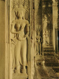 Relief Carving on the Temple at Angkor Wat, Angkor, Siem Reap, Cambodia, Indochina, Asia Photographic Print by Bruno Morandi