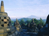 View of Arupadhatu, 8th Century Buddhist Site of Borobudur, Java, Indonesia Photographic Print by J P De Manne