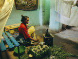 Coffee Ceremony, Abi-Adi, Ethiopia, Africa Photographic Print by J P De Manne