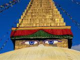Buddhist Stupa, Bodnath (Bodhnath) (Boudhanath), Kathmandu Valley, Nepal, Asia Photographic Print by Bruno Morandi