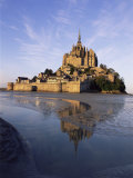 Mont Saint Michel (Mont-St. Michel), Manche, Normandie (Normandy), France Photographic Print by Bruno Morandi