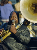 Portrait of a Jazz Musician in the French Quarter, New Orleans, Louisiana, USA Photographic Print by J P De Manne