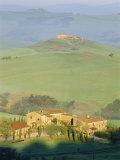 Farmhouses Near Pienza Near Siena Province, Tuscany, Italy Photographic Print by Bruno Morandi