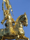 Equestrian Statue of Joan of Arc, French Quarter, New Orleans, Louisiana, USA Photographic Print by J P De Manne