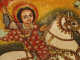 Mural Painting in the Church of Narga Selassie,Dek Island on Lake Tana, Ethiopia, Africa Photographic Print by J P De Manne