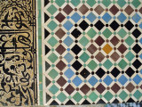 Tile Detail, Attarine Medressa, Fez, Morocco, North Africa Fotografisk tryk af Bruno Morandi