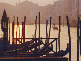 Sunset, the Grand Canal Near the Rialto Bridge, Venice, Veneto, Italy Photographic Print by J P De Manne