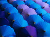 Umbrellas, Bo Sang, Thailand, Asia Photographic Print by Bruno Morandi