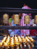Lamps and Prayer Wheels, Gold Temple, Patan, Kathmandu Valley, Nepal, Asia Photographic Print by Bruno Morandi