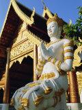 Wat Chiang Man, Chiang Mai Thailand, Asia Photographic Print by Bruno Morandi