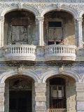 Colonial Facade, El Malecon, Havana, Cuba Photographic Print by J P De Manne