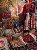 Carpet Shop, Kapali Carsi, Grand Bazaar, Istanbul, Turkey, Europe Fotoprint van Bruno Morandi