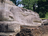 Reclining Buddha Statue, Buddha Entering Nirvana, Polonnaruwa, Sri Lanka Photographic Print by J P De Manne