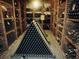 Wine Cellar, Chateau Verrazzano, Chianti, Tuscany, Italy, Europe Photographic Print by Bruno Morandi