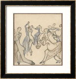 Seriously Passionate Couples Dance the Tango Gerahmter Giclée-Druck von Olaf Gulbransson