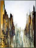 Urban Abstract No. 141 Framed Canvas Print by Gregory Lang
