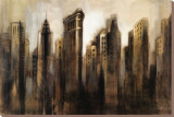 Flatiron Skyline Stretched Canvas Print by Silvia Vassileva
