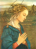 Virgin in Adoration (detail) Posters by Filippino Lippi