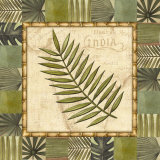 Tropical Leaf I Print by Charlene Audrey