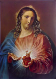 Sacred Heart of Jesus Poster by Pompeo Batoni
