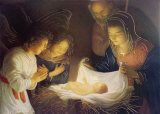 The Nativity Láminas por Gerrit van Honthorst