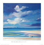 Silver Sands, Eigg and Rhum Stampe di Daniel Campbell