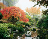 Japanese Garden I Posters by Maureen Love