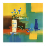 Flowers and Vase Posters par Alan Morgan