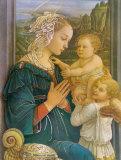 Jungfrau in Anbetung Poster von Filippino Lippi