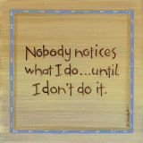 Nobody Notices Art by Karen Tribett