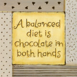 Balanced Diet Print by Karen Tribett