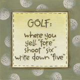 Golf Print by Karen Tribett