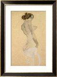 Standing Female Nude, 1912 Gerahmter Giclée-Druck von Egon Schiele