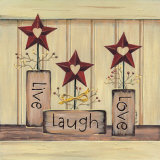 Live, Laugh, Love Poster by Karen Tribett