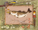 Large Mouth Bass Print by Anita Phillips