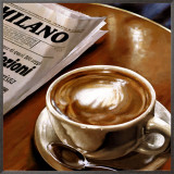 Cappuccino al Bar Framed Canvas Print by Federico Landi