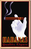 Habanas Quality Cigars Stretched Canvas Print by Steve Forney