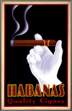 Habanas Quality Cigars Framed Canvas Print by Steve Forney