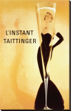El momento Taittinger, en francés Reproducción en lienzo de la lámina