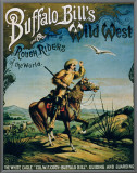"Advertisement for ""Buffalo Bill's Wild West and Congress of Rough Riders of the World"" Framed Canvas Print"