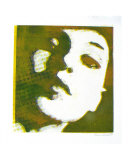 Self Portrait in Yellow & Green Giclee Print by Becki Sanders